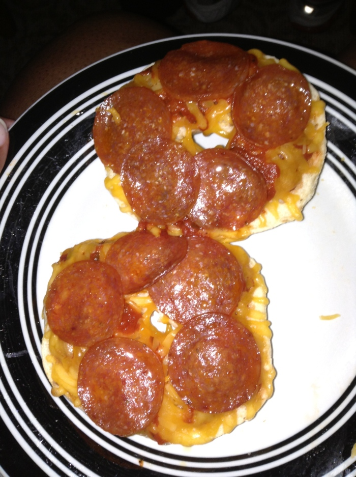 When pizza's on a bagel...